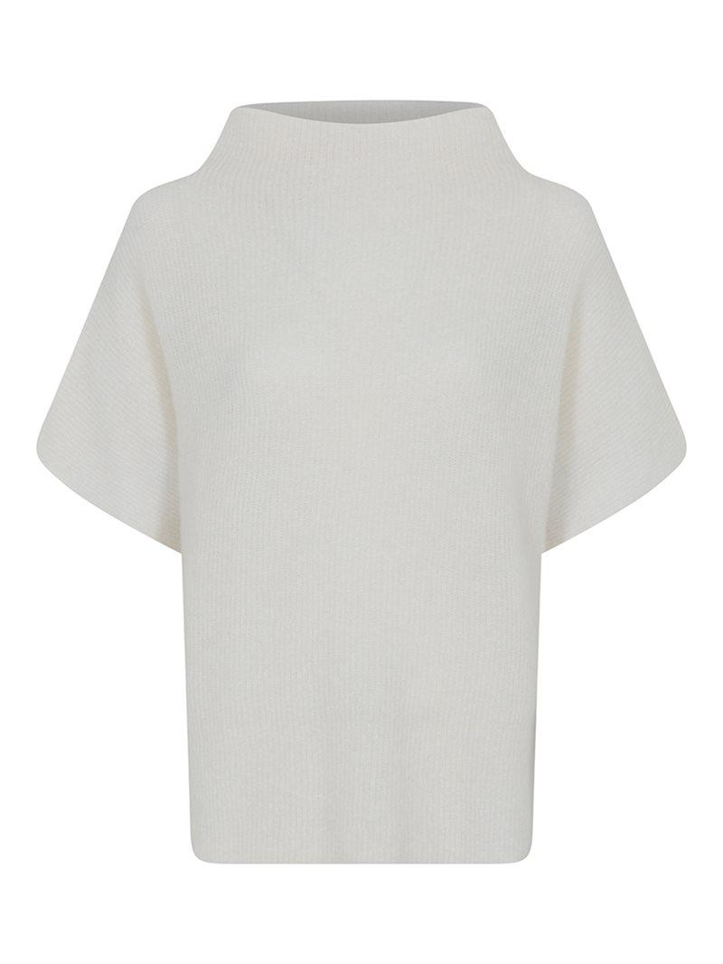 Room witte dames spencer trui met kol - Gustav - Coya knit cape - 3615-0-1010