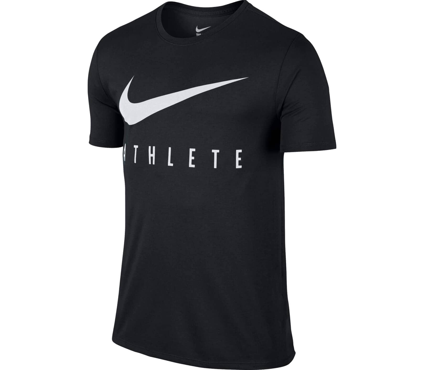 Zwart Heren T-shirt Nike Nike Dry Fit Swoosh - 739420 010
