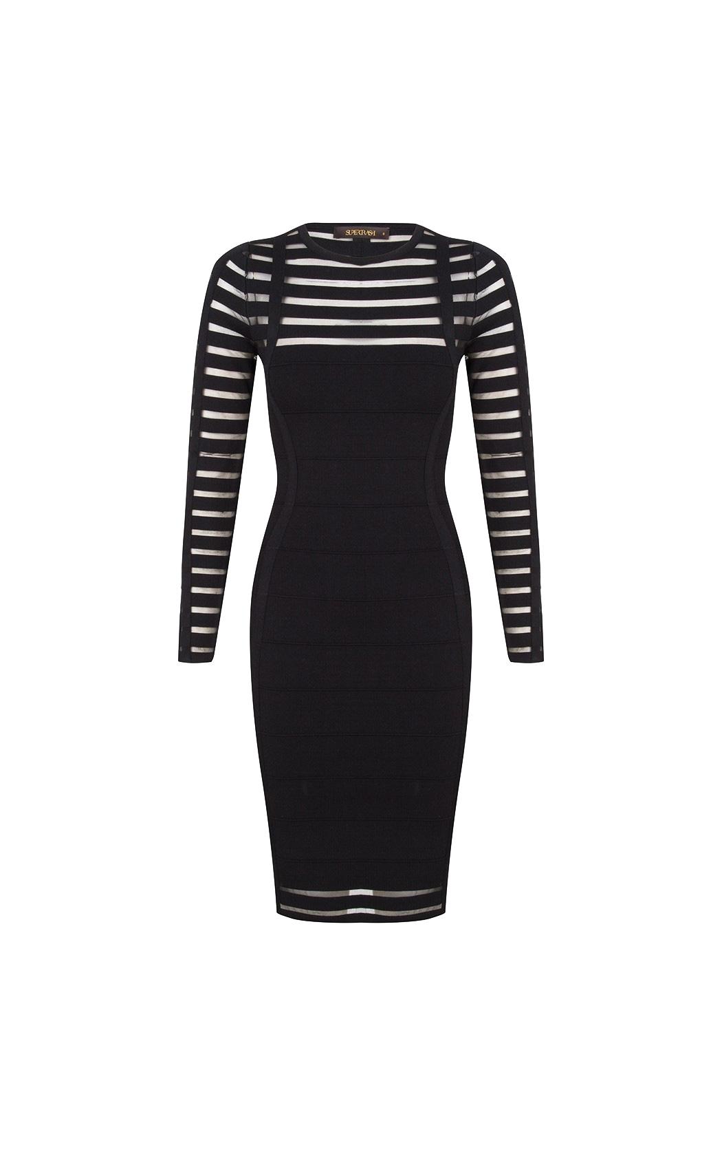 Zwarte dames jurk Supertrash - Derre