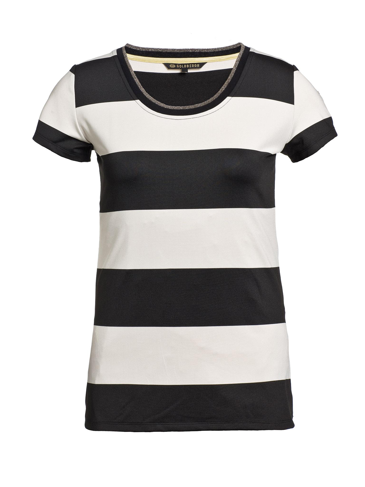 Zwart creme dames shirt Goldbergh - Zebra