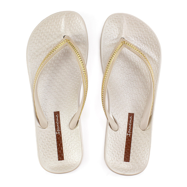 Metallic beige damesslipper Ipanema