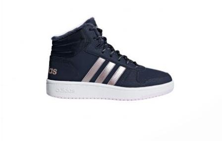 Donkerblauwe kinderschoen Adidas Hoops Mid 2.0 K - B75741