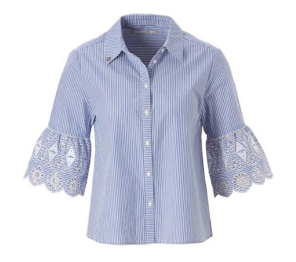 Blauw wit gestreepte dames blouse Maison Scotch - 144667