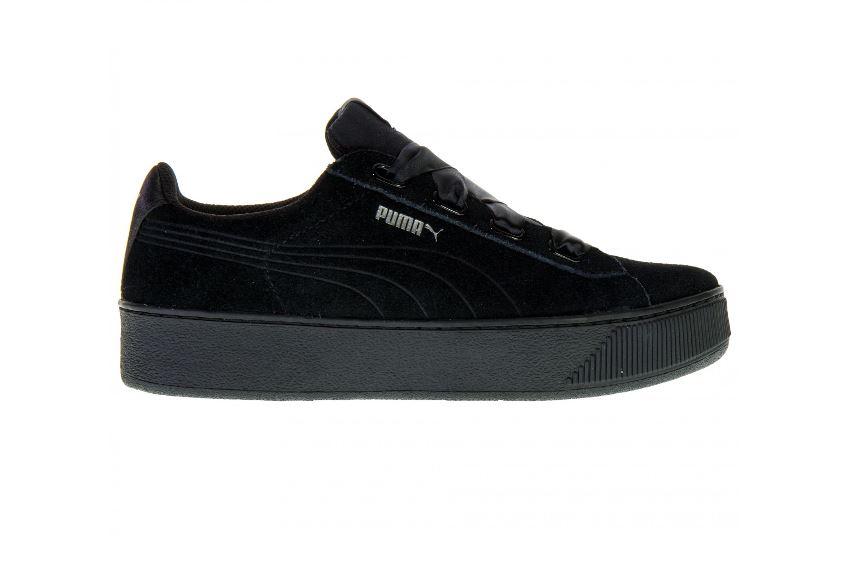 Zwarte suède dames sneaker Puma - 366418