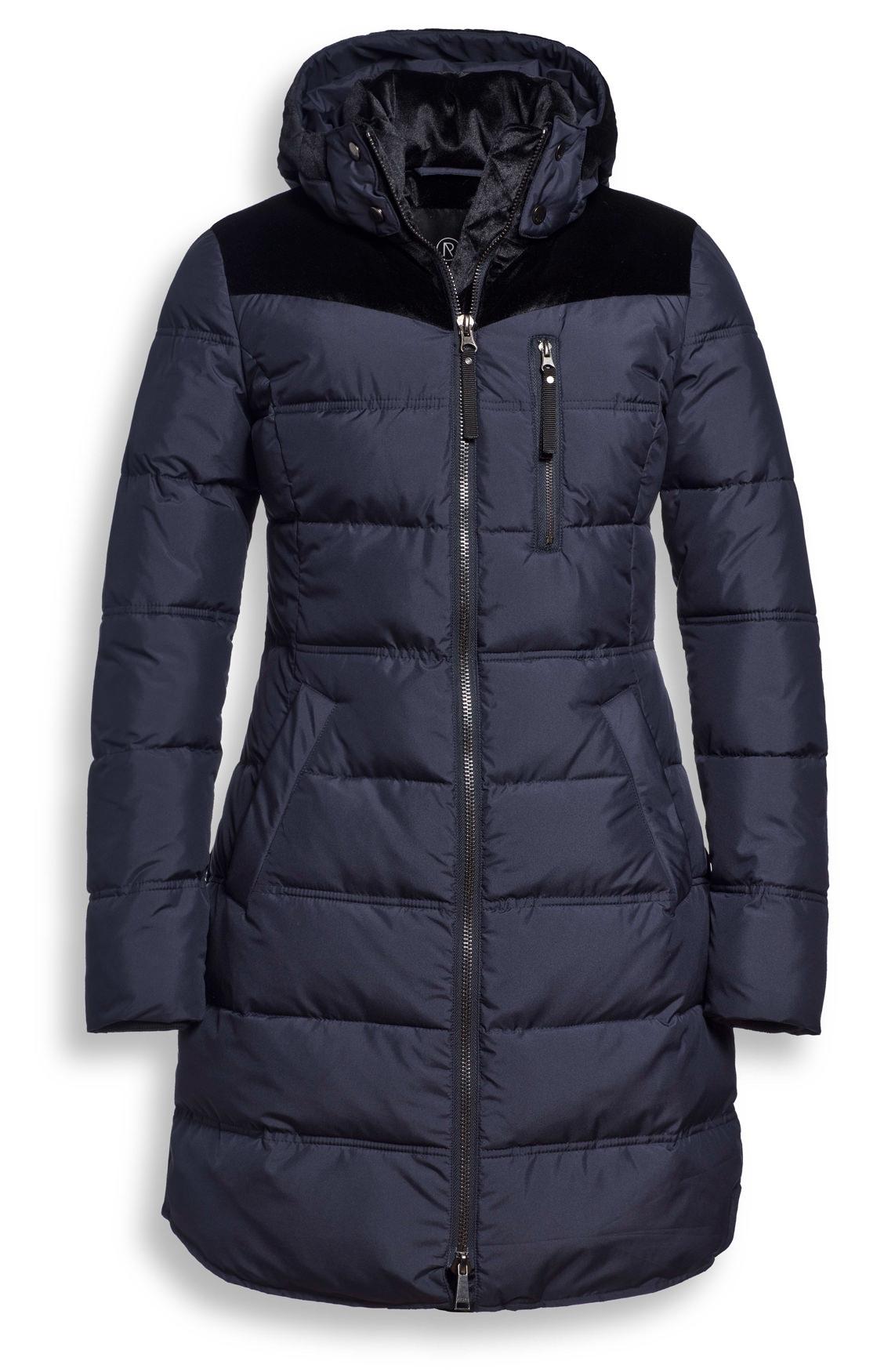 Donderblauwe dames jas Reset Nadia - 502 night sky