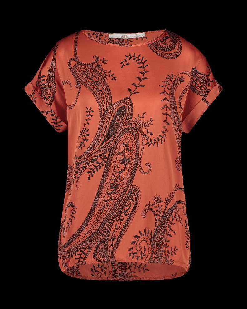 Oranje dames top met print Aaiko - Merle - Chili