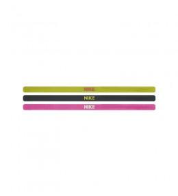 Nike elastic hairbands - pink, neon yellow & purple