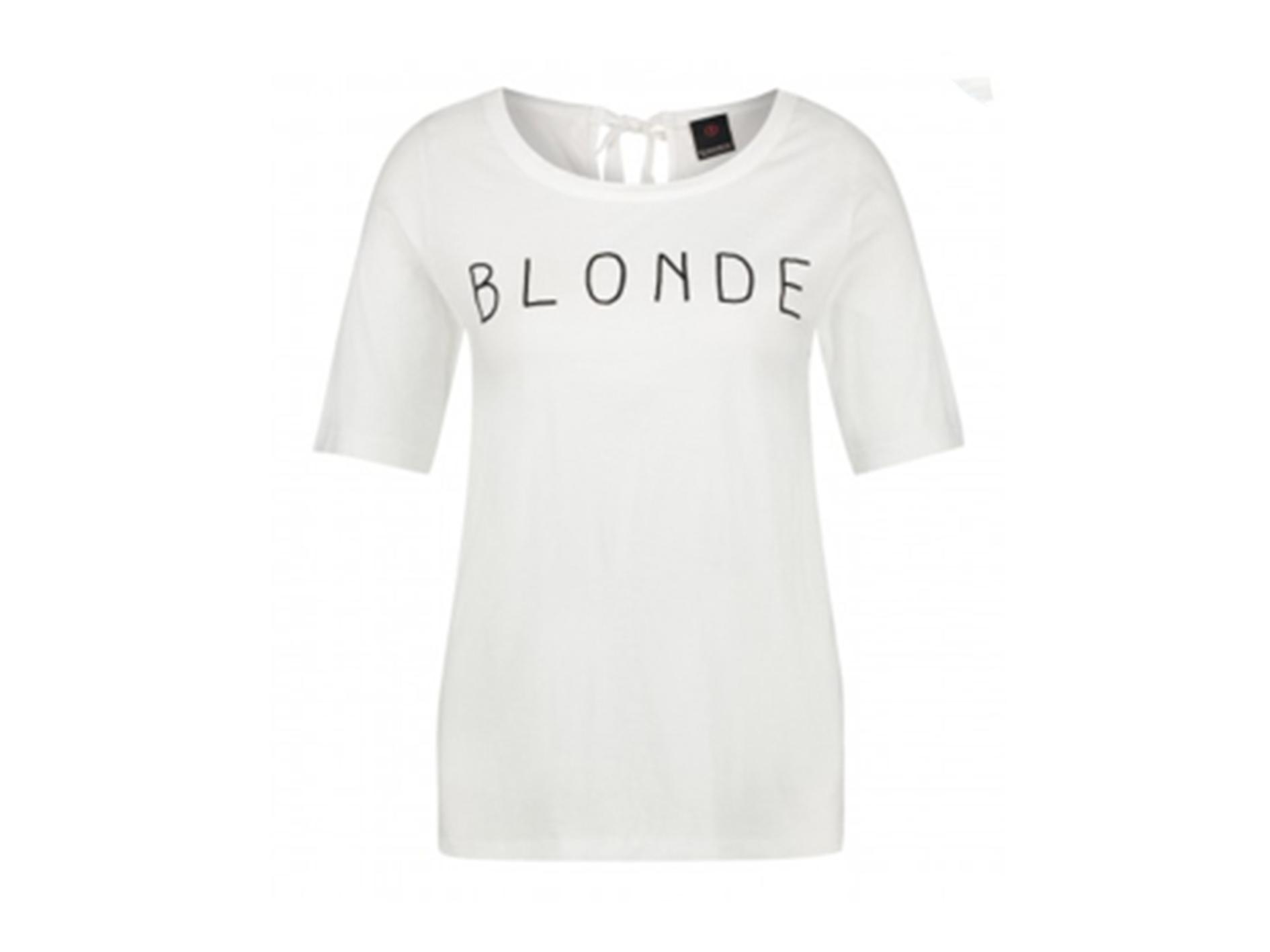 "Wit dames T-shirt met ""blonde"" opdruk Penn&Ink - S19F478"