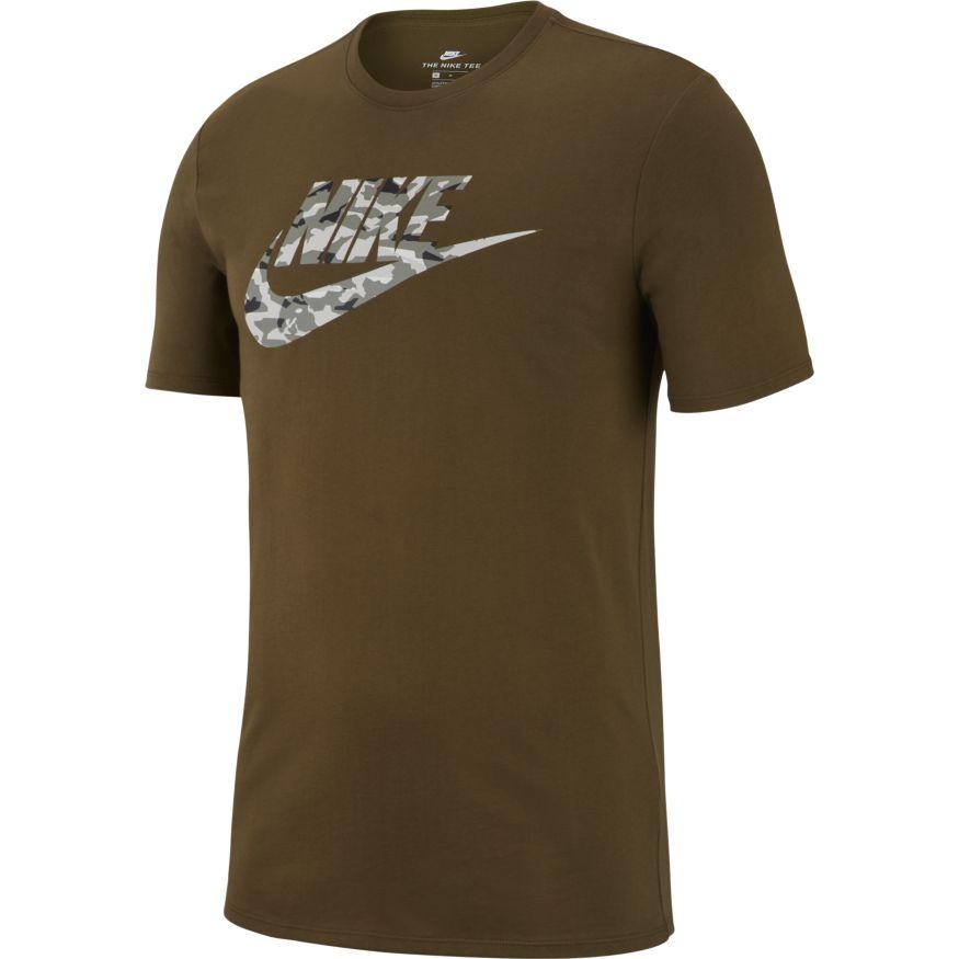 Groen heren t-shirt Nike NSW Camo - AJ6633 395