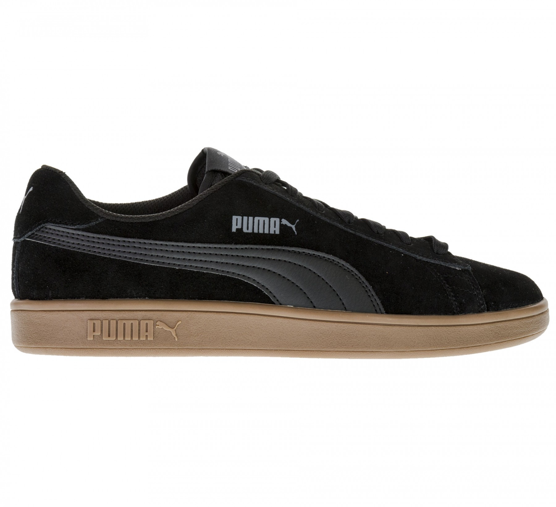Zwart Bruine heren sneaker Puma Smash V2 - 364989-15