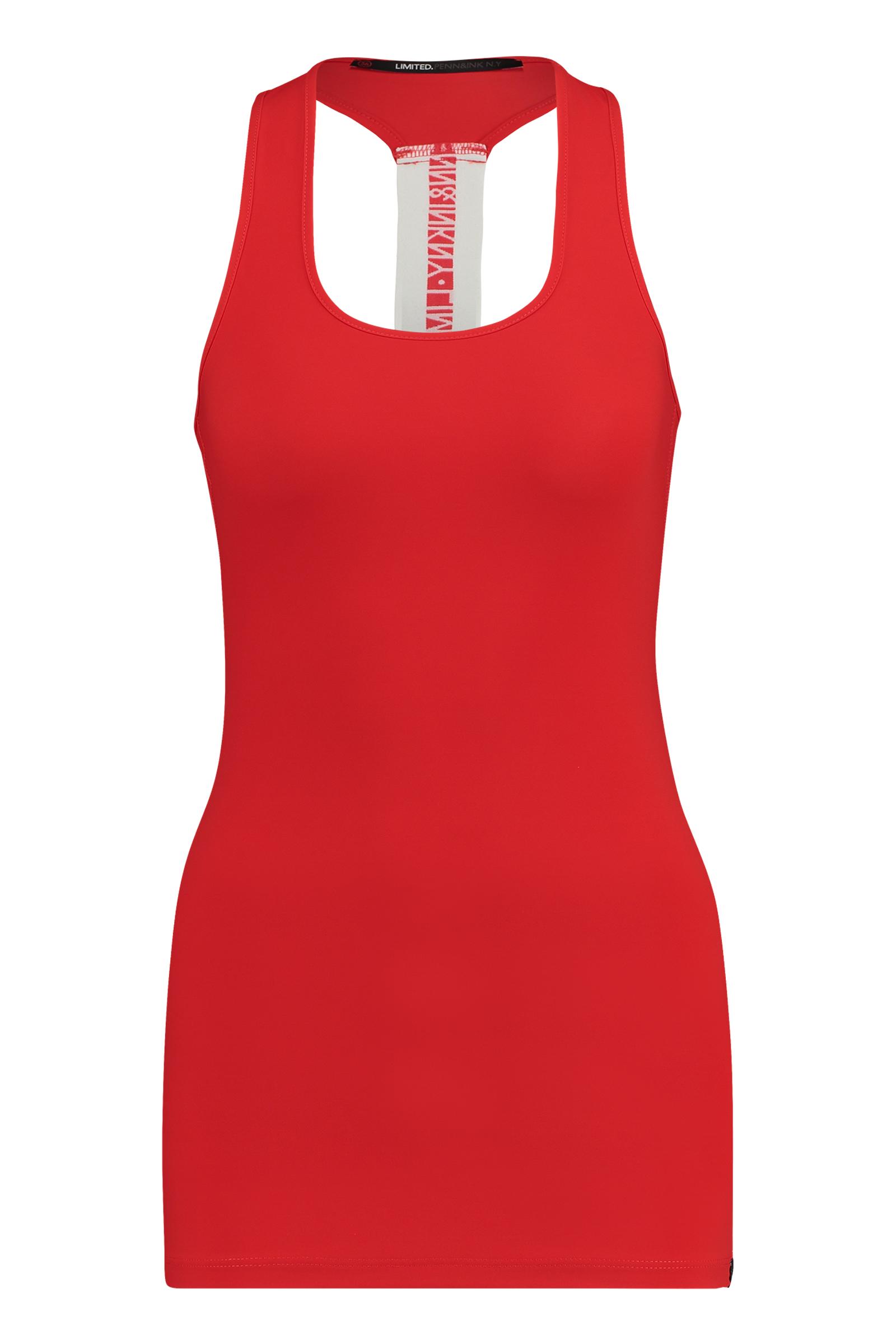 Oranje rode dames top Penn & Ink - S18N261LTD