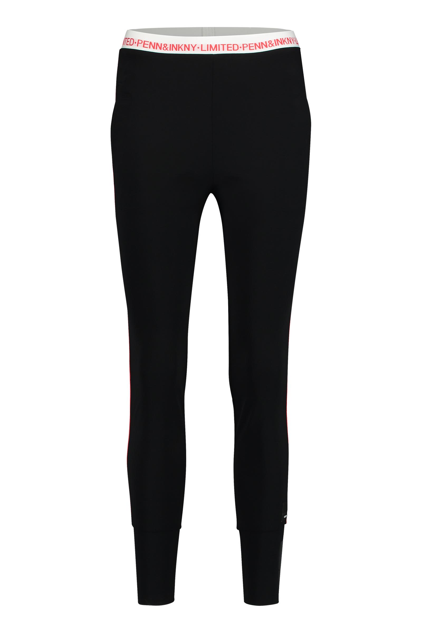 Donkerblauwe dames broek met streep detail zijkant Penn & Ink - S18N276LTD