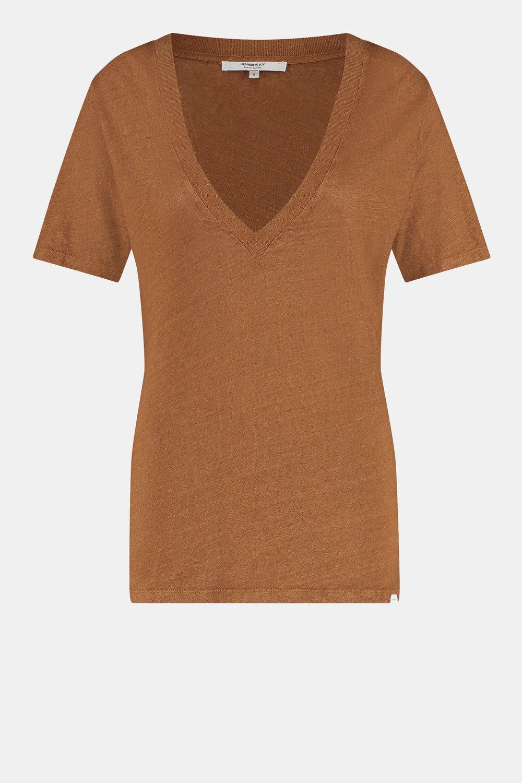 Bruin dames shirt - Penn&Ink - S21T588LTD - lion