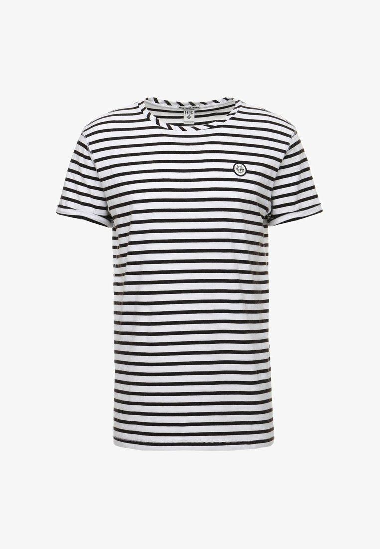 Zwart/wit gestreept heren shirt Scotch & Soda - 144238