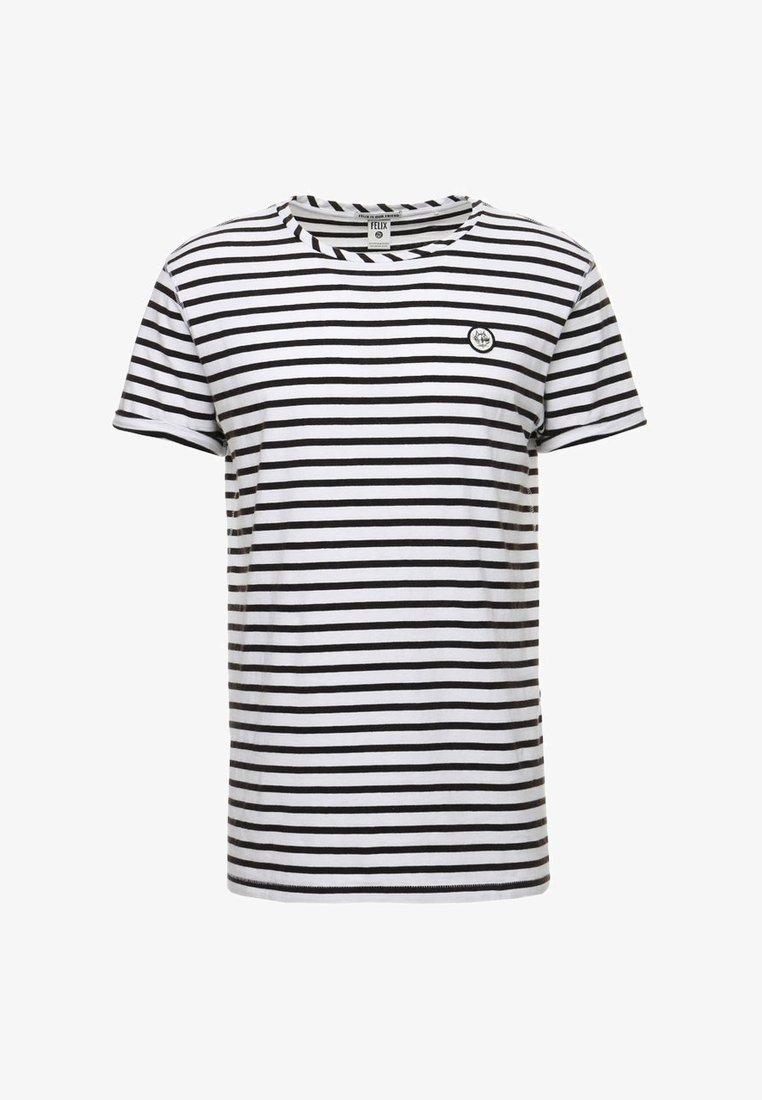 Zwart/wit gestreept heren shirt Scotch & Soda - 144238