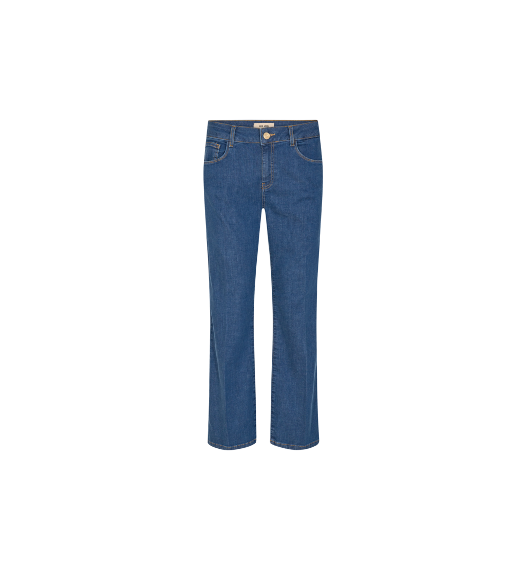 Blauwe wijde dames jeans - Mos Mosh - Cecilia reloved jeans cover - 140640-401