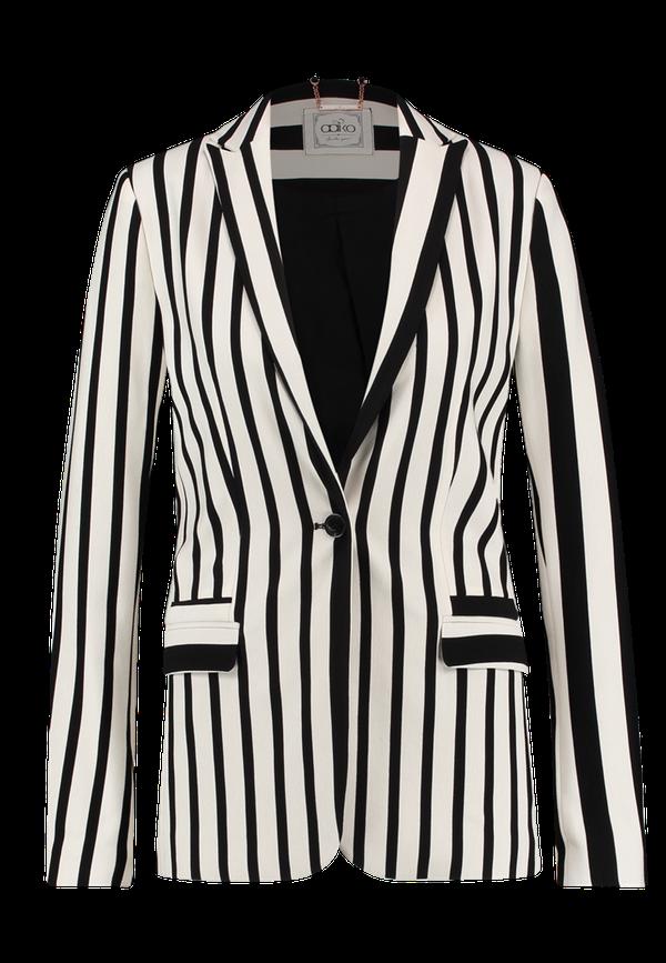 Zwarte/wit gestreepte dames blazer Aaiko - Sarisa