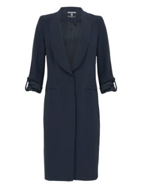 Donkerblauw lang dames colbert Summum - 1S759-10057A