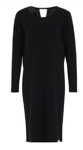 Zwarte lange dames jurk Penn & Ink - s217t08pre