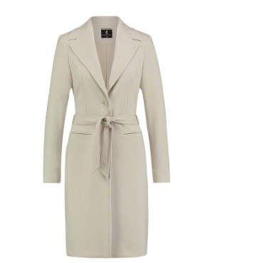 Creme lange dames blazer Summum - 1s780-10196