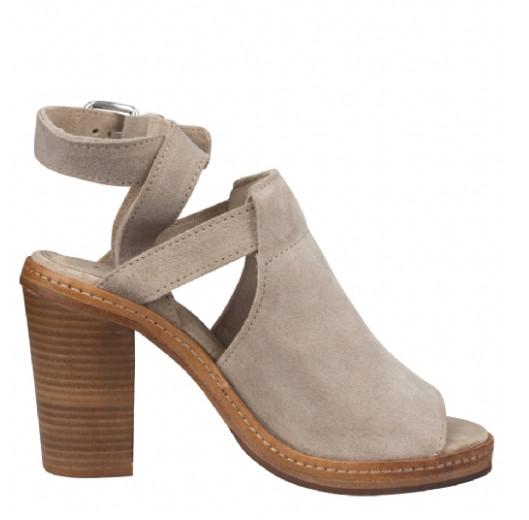 Beige dames sandalettes Shabbies - 163020004