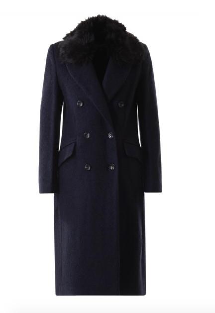 Donkerblauwe lange dames jas Giacomo - 66.19.424