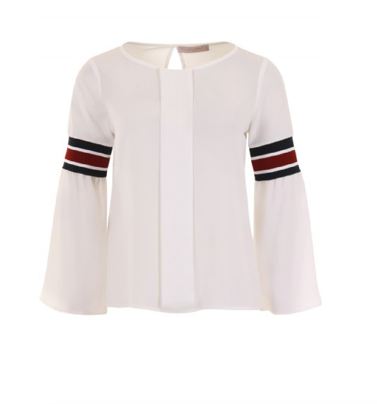 Wit gedetailleerde dames blouse Rinascimento - CFC0085365003