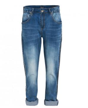 Blauwe dames jeans met streept detail zijkant Summum - 4s1476
