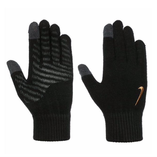 Zwart goude handschoenen Nike Knitted Tech Grip