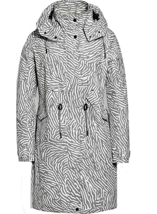 Grijs witte dames jas Reset - 925 silver zebra