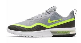 Zwart grijs gele heren sneaker Nike - 001