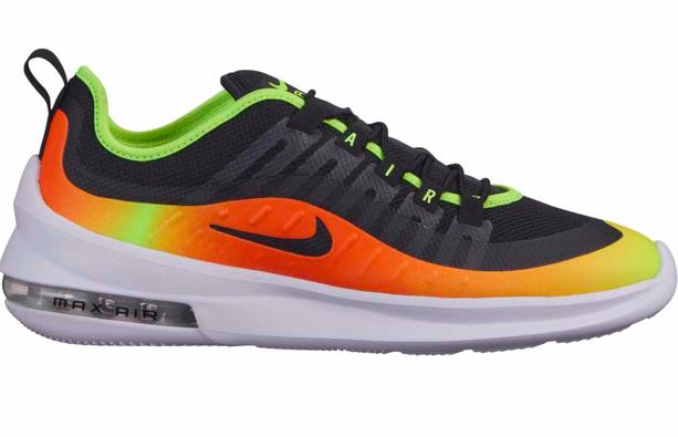 Zwart met oranje heren sneakers Nike - 006