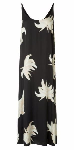 Zwarte dames jurk met bloemenprint Yaya - 000011