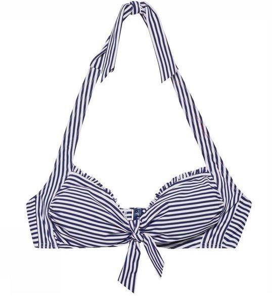 Gestreepte blauw/witte dames bikini top Esprit - 999EF1A804