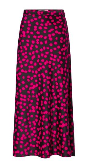 Zwart/fuchsia geprinte dames rok Fabienne Chapot - Hall Skirt