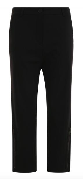 Zwart gestreepte wijde dames broek Penn & Ink - W19N640LTD