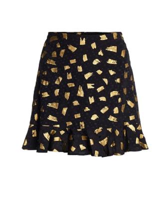 Zwart/ Gouden dames rok - Fabienne Chapot - Stardust skirt - black/gold flyig