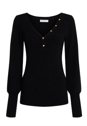Zwarte dames pullover - Fabienne Chapot - Alicia pullover - black uni