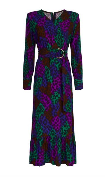 Zwart geprinte lange dames jurk - Fabienne Chapot - Carlotta dress - black