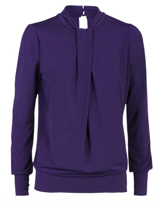 paarse dames blouse - Summum - 3S4324-30080 - dark purple