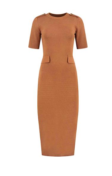 Bruine dames jurk Nikkie - Karin dress - N7-748 2001 2800
