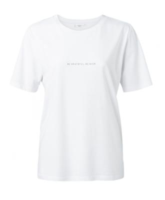 Wit dames shirt met quote - YAYA - 00000