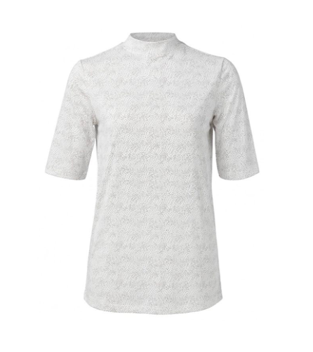 Wit gestipt dames shirt - YAYA - 191119-011