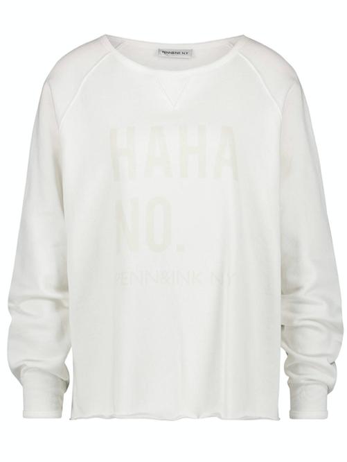 Witte dames sweater - Penn & Ink - S20F727
