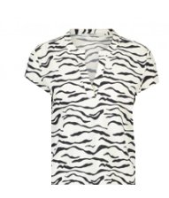 Zebra geprinte dames top - Penn & Ink - S20N706P