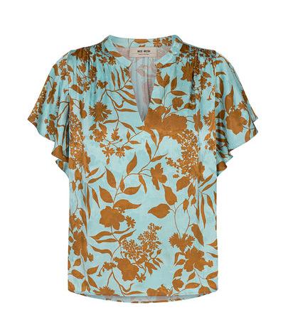 Blauw geprinte dames blouse - Mos Mosh - 132070 - 526