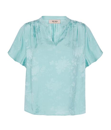 Blauwe dames blouse met print - Mos Mosh - 132082 - 526