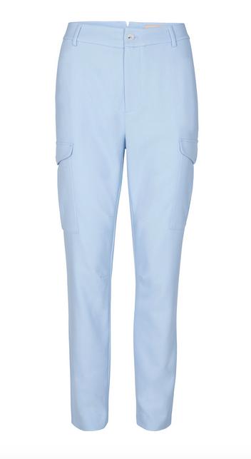 Blauwe dames broek met zakken - Mos Mosh - 132290 - 454