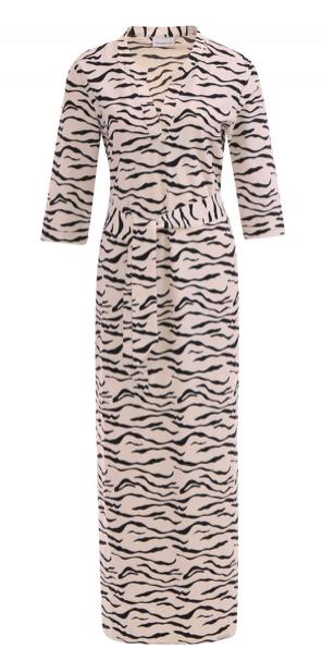 Zwart/wit geprinte dames jurk - Penn & Ink - S20N705P - 1250