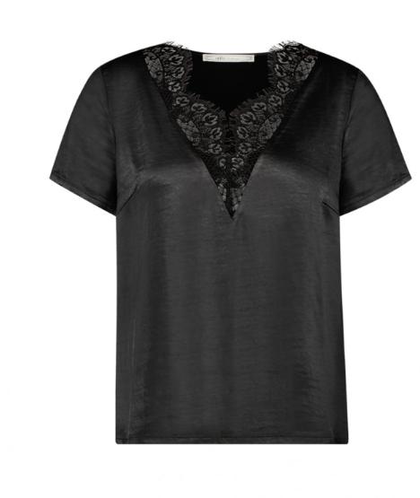 Zwarte kanten dames top - Aaiko - Veerly - 900 black